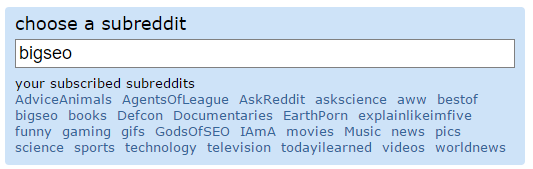 choose a subreddit