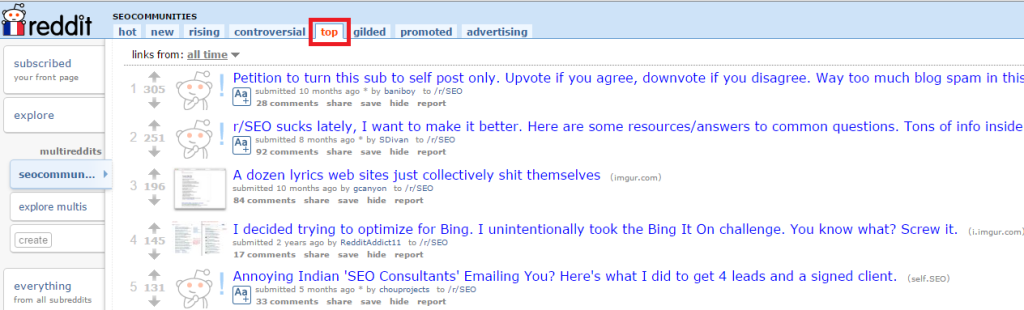 multireddit top