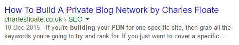 Breadcrumbs in the SERPs