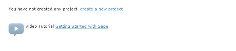 create a sape project