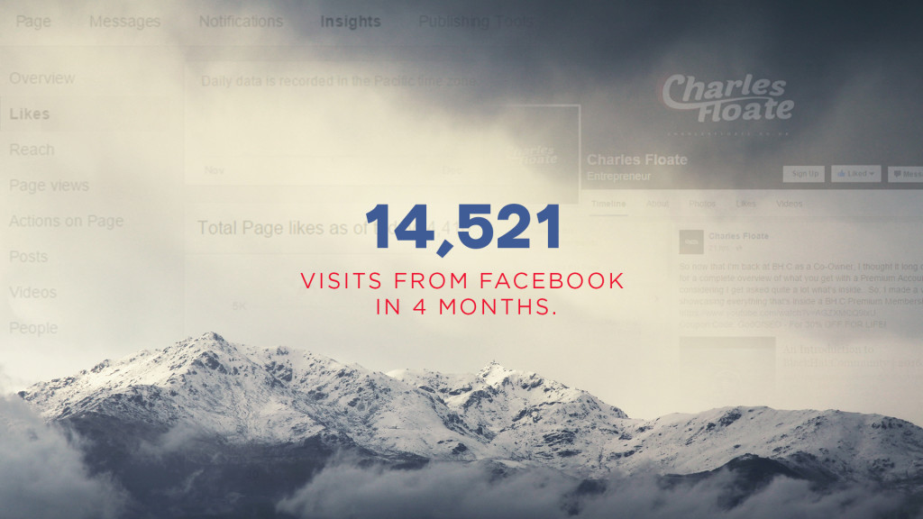 14,521 Visits From Facebook in 4 Months [Case Study]
