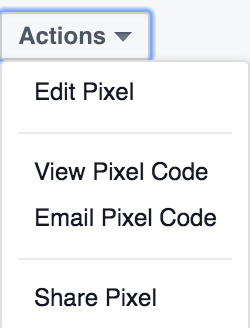 Actions For Your Facebook Pixel