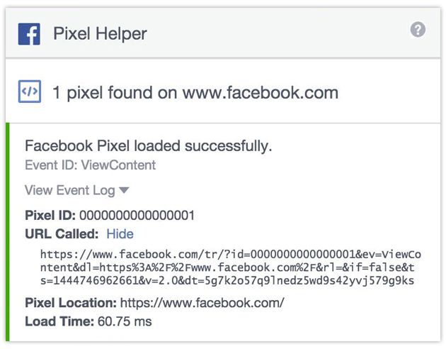 Facebook Pixel Helper