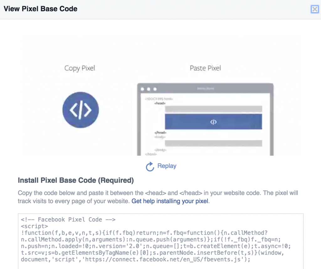 Getting Your Pixel Code on Facebook