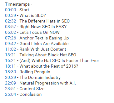 youtube timestamps